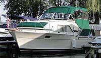1974 Chris Craft Catalina 35' Double Cabin for sale in the Lindsay area northeast of Toronto, Ontario, Canada.