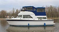 1980 Chris Craft 38' Corinthian for sale in the Holland River area north of Toronto, Ontario, Canada.