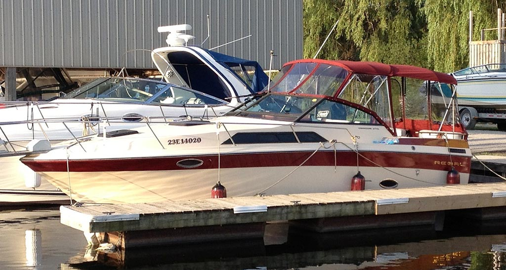 1986 Regal 277 Commodore for sale in the Lindsay area north east of Toronto, Ontario, Canada.