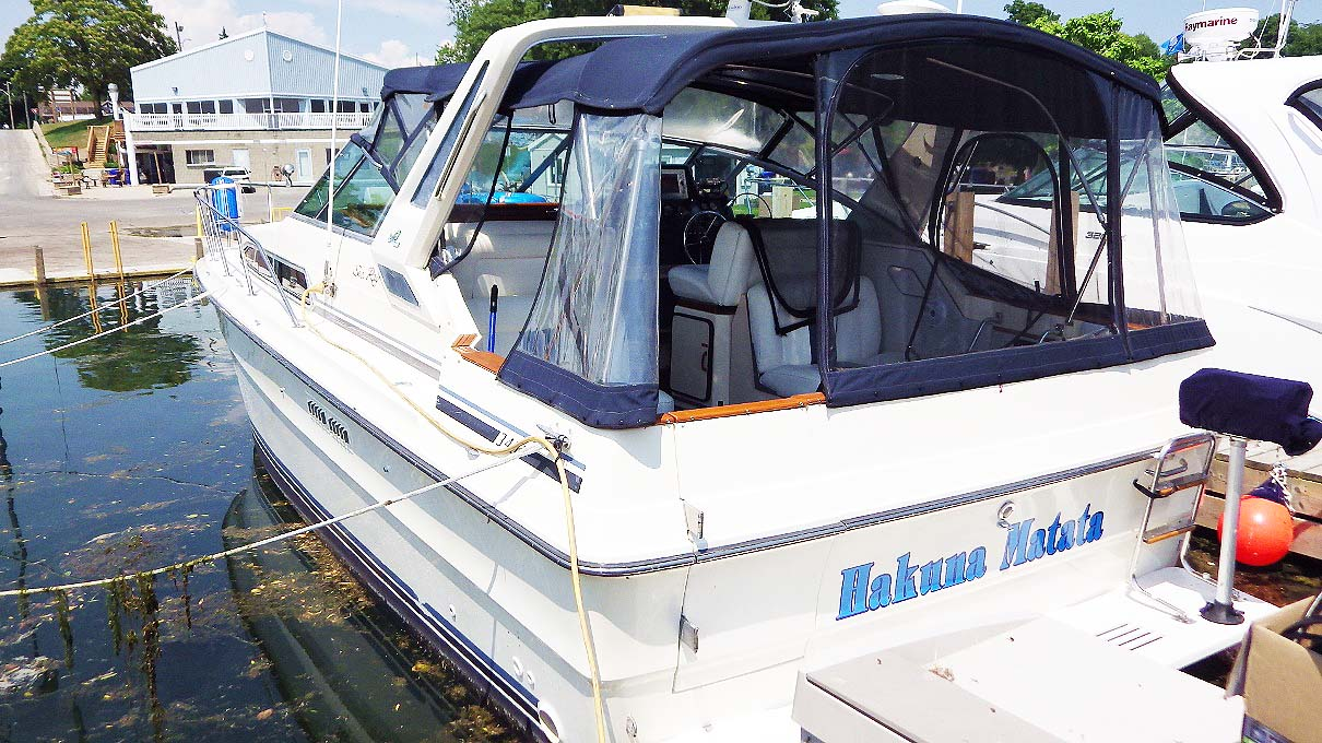 1987 SEA RAY 340 EXPRESS FOR SALE IN THE COLCHESTER AREA WEST OF TORONTO, ONTARIO, CANADA SIMILAR TO THE 1985, 1986, 1988 MODELS.