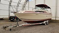 1988 Sea Ray 268 Sundancer for sale in the Lakefield area northeast of Toronto, Ontario, Canada.