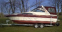1988 SEARAY 268 SUNDANCER with trailer for sale in the Lindsay area northeast of Toronto, Ontario, Canada.