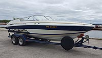 1991 Four Winns Liberator 201 with factory trailer for sale in the Trenton area east of Toronto, Ontario, Canada by Ontario boat and yacht brokers.