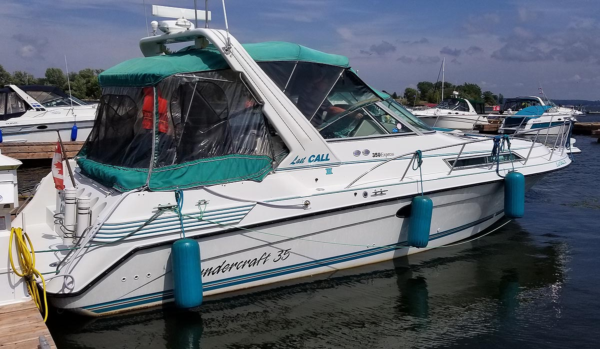 1994 Thundercraft 350 Express MC for sale in the Trenton area east of Toronto, Ontario similar to the 1991, 1992, 1993 and 1995 models.