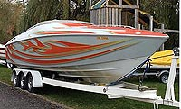 1999 BAJA 29 FOOT OUTLAW for sale in the Lindsay area northeast of Toronto, Ontario, Canada.