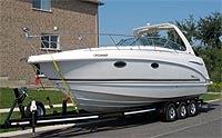 2002 Chaparral 280 with custom trailer for sale in the Lindsay area north  east of Toronto, Ontario, Canada.