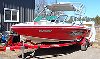 2004 Moomba Mobius LSV With Trailer for sale in the Lindsay area northeast of Toronto, Ontario, Canada.