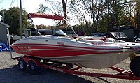 2007 Tahoe 195 Deck Boat for sale in the Lindsay area north east of Toronto, Ontario, Canada.