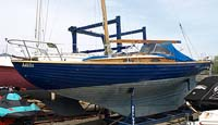 1967 Nordic Folkboat 25 foot sailboat for sale in the Trenton area east of Toronto, Ontario, Canada by Ontario boat and yacht brokers.