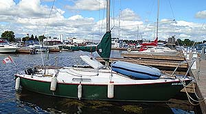 1971 C & C Redline 25 foot sailboat for sale in the Trenton area east of Toronto by Ontario marine, boat and yacht brokers offering power boats and sailboats for sale in the Kingston, Whitby, Brighton, Cobourg, Trenton And Belleville Areas Of Ontario Canada.