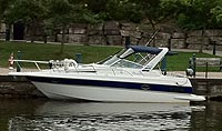 1990 Doral Monticello 270 sold by a marine boat and yacht broker in the  Pickering, Whitby, Bowmanville, Peterborough, Belleville, Trenton and Brighton areas of  Ontario Canada.
