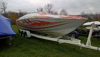 1999 Baja 29 Foot Outlaw for sale in the Lindsay area north east of Toronto and west of Peterborough, Ontario, Canada.