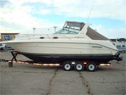 1996 Sea Ray 300 Sundancer sold in the Lindsay area north east of Toronto, Ontario, Canada.