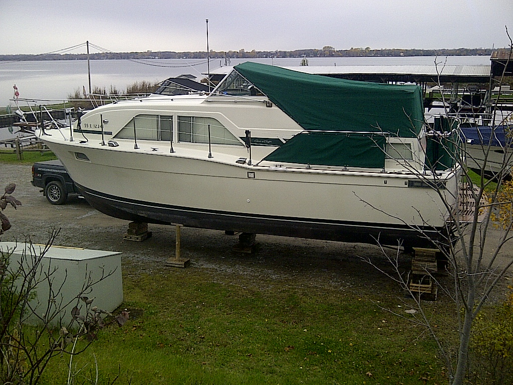 1974 Chris Craft 35 Foot Catalina Motor Yacht Crusier Or Live Aboard Model A Engine Diagram 350 For Sqale In The Lindsay Area Northeast Of Toronto Ontario